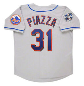 Mike Piazza New York Mets 2000 World Series Gray Jersey S-4XL