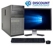 Dell Optiplex 3010 Windows 10 Desktop PC Tower Computer i5 8GB 128GB SSD 19 LCD