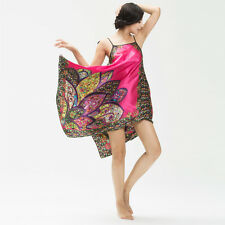 NEW Sexy Womens Silk Satin Pajamas Sleepwear&Robes Nightdress Nightgown P013
