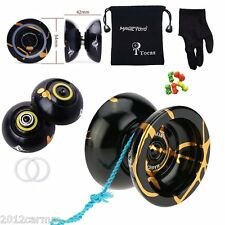 New Magic YoYo N11 Black &Gold professional YO-YO For Xmas Kids Gifts +strings
