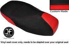 BLACK & RED VINYL CUSTOM FOR PIAGGIO VESPA 125 GT 1 GTS 250 300 DUAL SEAT COVER