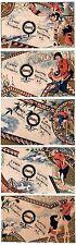 Advertising Trade Card SET Lot of 5 - Sapanule Quack Medicine - Japanese 1880s