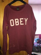 Obey Womens Burgandy Jumper Size Large