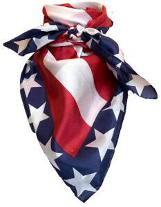 Wyoming Traders Liberty Wild Rag 34 Inch Silk Scarf Bandana America Patriotic