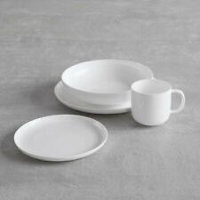 (2 sets, 32 pieces) Fortessa Modern Coupe Dinnerware UNUSED - Bone China