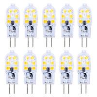 10er G4 LED Lampe 2W AC/DC 12V Warmweiß 3000K 12x2835 SMD Mit PC Mantel