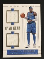 2017-18 National Treasures Carmelo Anthony Game Gear Dual Jersey Relic SP /99 🔥