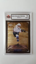 Alexander Ovechkin 2007-08 UD QUAD Black Diamond Gold Hockey Card 2/10 Graded 9!