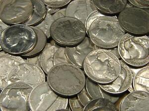 1900-1959 Jefferson Liberty Buffalo Nickel 40 Coin Mixed Roll