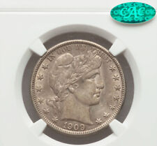1909 Barber Half Dollar NGC AU58 CAC Endorsed!