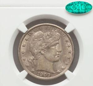1909 Barber Half Dollar NGC AU58 CAC Endorsed!