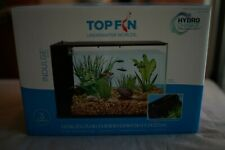 New listing Top Fin Indulge 3 Gallon Aquarium Tank Glass With In Built Filtration Read Desc