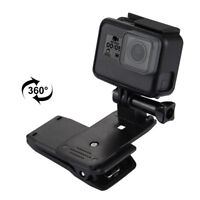 360°Chic Rotary Backpack Hat Rec-Mounts Clamp Mount for Go Pro Hero 2 3 3+ 4 %o