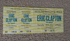 ERIC CLAPTON MAY 24 1983 GUILDFORD CIVIC HALL UNUSED CONCERT TICKET Plus Support