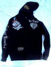 Ed Hardy Hoodie Sweatshirt Medium Weight Adult Size 4XL Pre-Owned!