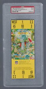 VINTAGE 1983-84 NFL SUPER BOWL XVIII FULL FOOTBALL TICKET RAIDERS - PSA NMT7