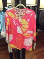 Large Lulu B Print Top Retail $49