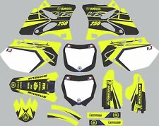 Vibrant Highlighter YAMAHA GRAPHICS  YZ 250 YZ250 2002-2014 Blue