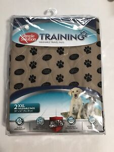 """SIMPLE SOLUTION TRAINING WASHABLE TRAVEL PADS XXL 30""""X 32"""", NEW"""