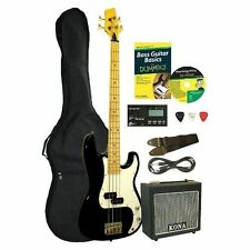 Kona Guitars Electric Bass Guitar Starter Pack For Dummies KBFDPK GREAT SET NEW