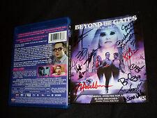Beyond The Gates Blu Ray signed by Barbara Crampton Jackson Stewart + 10 others
