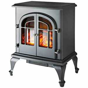 2000W Log Burning Flame Effect Stove Electric Fireplace Fire Heater Freestanding