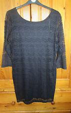 Black Lace Wiggle Dress Debenhams NWT UK 18 Red Herring