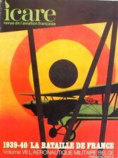 ICARE Revue de l'aviation française n°74 - 1939-40 La bataille de France