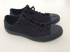 CONVERSE ALL STAR BLACK MONOCHROME MENS SNEAKERS SIZE US 11 IN VGC