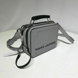 Genuine Marc Jacobs The Mini Box Bag rockey grey women crossbody bag sales.