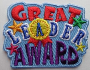 Rainbow/Brownie/Guide/Scout Great Leader Award fun badge (new)