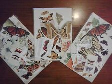 Vintage paper butterflies butterfly insect theme pictures for art craft collage