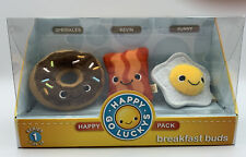 Hallmark Happy Go Luckys Breakfast Buds Series 1 #7 of 24 Happy Pack Plush Nib