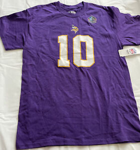 Fran Tarkenton Minnesota Vikings Womens Jersey T Shirt Size Medium Purple HOF