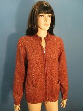 XL red MEDIUM KNIT ZIP UP SWEATER JACKET blouse by CHADWICK'S