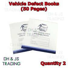 2x 50 Page Driver Defect Book Daily Duplicate Defect Checkbook VOSA Approved
