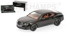 Minichamps - 2009 Bentley Continental Supersports - Black - 1:43 #436 139801 NEW