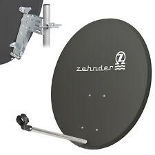 ZEHNDER 80 cm Satelliten SAT Spiegel Schüssel Antenne HDTV HD UHD 4K dunkel grau