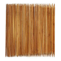 5 Sets of 11 Double Pointed Carbonized Bamboo Knitting Kits Needles Set AD