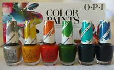 """OPI NAIL POLISH LACQUER """"COLOR PAINTS"""" COLLECTION 2015 (Lot of 6)"""