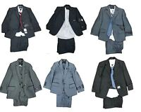 New Boys Formal Wedding Party 3/5 Piece Waistcoat Jacket Suit Ages 1 to 13 yrs