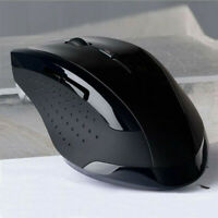 Portable 2.4GHz Wireless Optical Gaming Mouse Mice For Computer PC Laptop Black