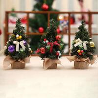 Desktop Mini Christmas Tree with christmas tree decorations hanging ornaments NI