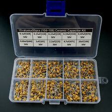 10 Valor 50V 500 PZAS 0.1uF~10uF 104~106 Condensador De Cerámica Variado Kit