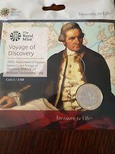 El capitán Cook viaje de descubrimiento 2 poind moneda