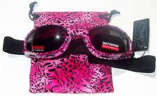 Shetah Goggles Motorcycle Goggles Smoke Lens Pink Leopard Cheetah Ladies Womens