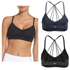 Womens Alo Yoga Sunny Strappy Sports Bra Tight Fit Yoga Bralette NEW