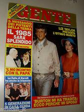 GENTE=1985/1=LIZ TAYLOR=ANTONIO GHIRELLI=FRANCESCA BERTINI=CARLO MARIA GIULINI=