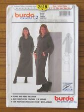 BURDA PATTERN - 2619 GIRL'S DRESS with HOOD KANGAROO POCKET 10-16jun EASY UNCUT