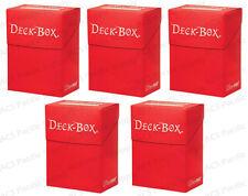 5 Ultra Pro RED Deck Box Bulk Lot MTG 81452